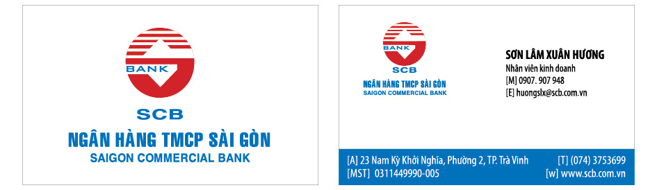 scb 01 in name card, danh thiếp, card visit giá rẻ